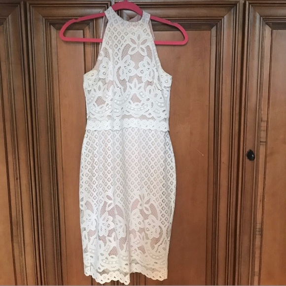 asos white lace bridal shower dress small 6